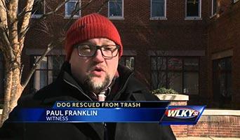 Hund in der Müllpresse entsorgt