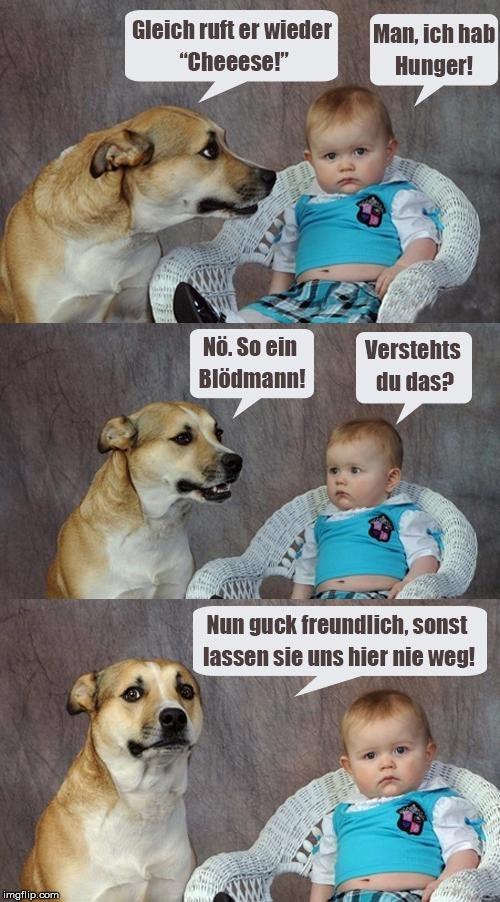 Kind und Hund beim Fotografen