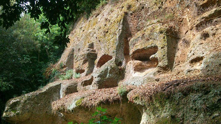 Archäologischer Park in Sovana